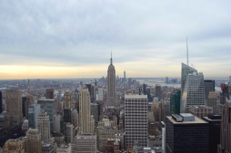 View from the Top of the Rock, New York City.