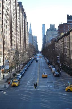 Street in Chelsea, New York City.